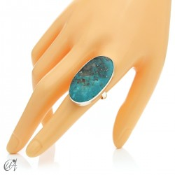 Turquoise ring in sterling silver, size 23 model 1