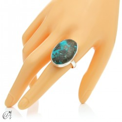 Turquoise ring in sterling silver, size 23 model 3