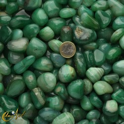 Green agate tumbled stones