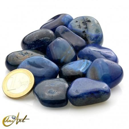 Ágata azul - bolsa de cantos rodados 200 gramos