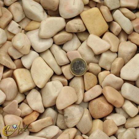 Cream moonstone - 200 grams of tumbled stones