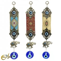 Turkish evil eye with elephant and carpet
