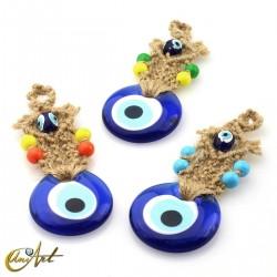 Turkish evil eye with macramé in sisal