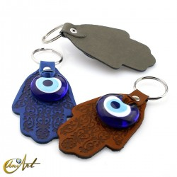 Turkish Evil Eye with Fatima Hand - Keychain
