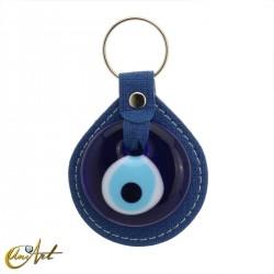 Turkish evil eye keychain against to the evil eye, blue