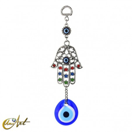 Hand of Fatima with the turkish evil eye to hang
