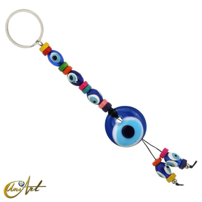 Turkish evil eye amulet colorful keychain