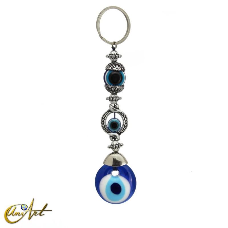 Llavero amuleto ojo turco, modelo esfera.
