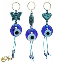 Vintage keychain with the turkish evil eye