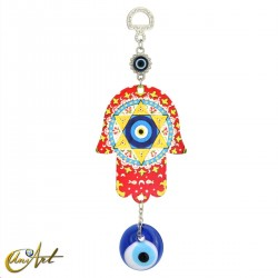 Metal hand with the Turkish evil eye, model 2