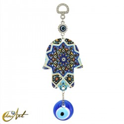 Metal hand with the Turkish evil eye, model 3