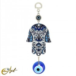 Metal hand with the Turkish evil eye, model 6