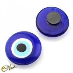 Turkish evil eye magnet amulet, 4 cm Ø