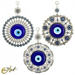 Turkish evil eye amulet for wall - 24 cm Ø