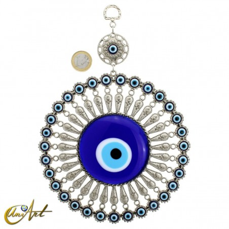 Metal amulet with the Turkish evil eye model 1
