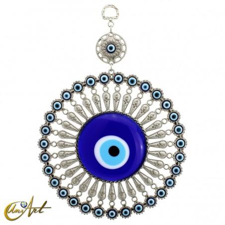 Amuleto de metal con el ojo turco, modelo 1