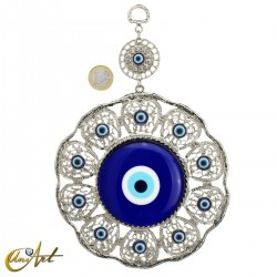 Metal amulet with the Turkish evil eye model 2