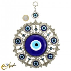 Metal amulet with the Turkish evil eye model 3