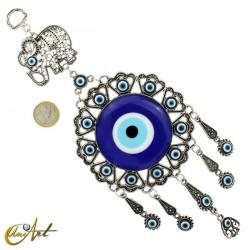 Amuleto ojo turco con elefante de la suerte