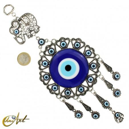 Turkish evil eye amulet with lucky elephant