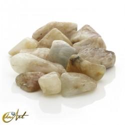 Aquamarine matrix tumbled stones in packet of 200 grs