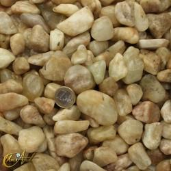 Aquamarine matrix tumbled stones