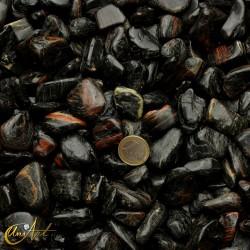 Turmalina negra con hematite -  cantos rodados