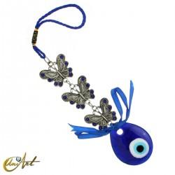 Amuleto Ojo Turco con mariposas