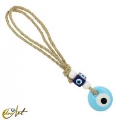Turkish evil eye for car or home - sky blue