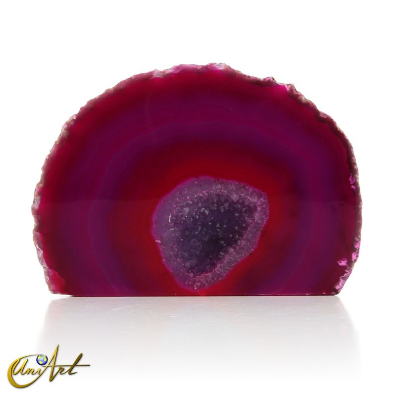 Agate geode with crystal quartz