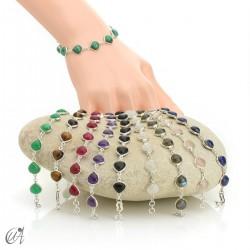 Pear gemstone bracelet in sterling silver