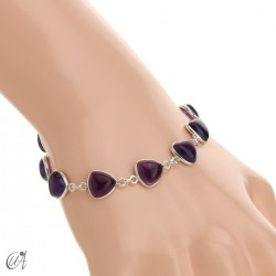 Silver bracelet and gems, threshing -  amethyst