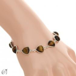 Silver bracelet and gems, threshing -  tiger eye