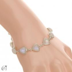 Silver bracelet and gems, threshing -  moonstone