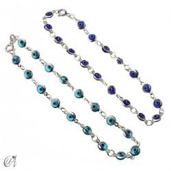 Turkish evil eye sterling silver bracelet