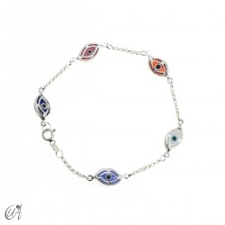 Amulet bracelet against the evil eye in sterling silver - marquise