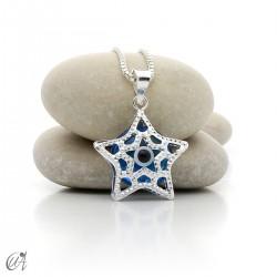 Estrella de plata 925 con Ojo Turco, colgante