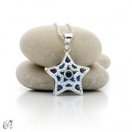 Estrella de plata con Ojo Turco, colgante