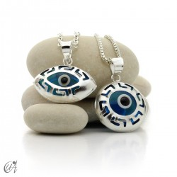 Colgante calado ojo turco en plata 925