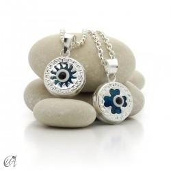Turkish eye in 925 silver against the evil eye