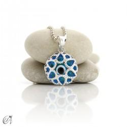 Turkish Evil Eye latticework 925 silver pendant