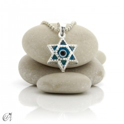 Turkish evil eye charm made of glass and 925 silver - star