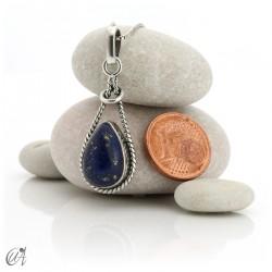 Colgante gota enlazada en plata 925 y lapislázuli