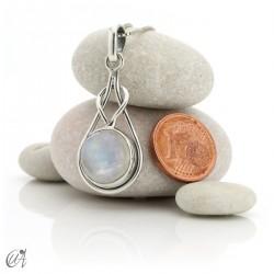 Colgante modelo Elo en plata de ley y piedra luna