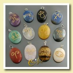 Piedras del Horóscopo (colgantes grabados con los signos zodiacales)