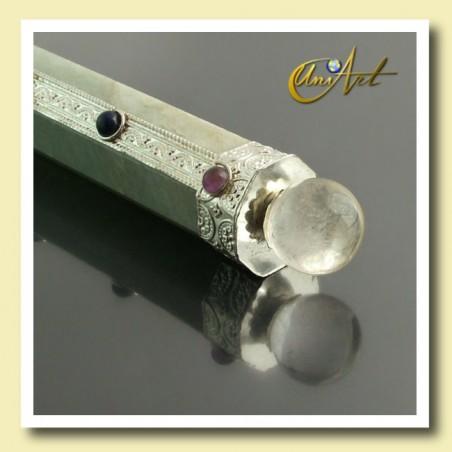 Green Aventurine Healing Wand with the 7 chakras gemstones