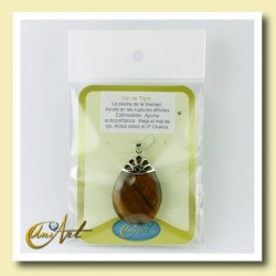 Big Tear pendant in packaging suitable for display.