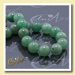 green aventurine, beads 14 mm