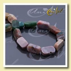 Agate India rectangular beads