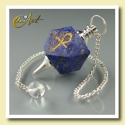 Pendulum of Lapis Lazuli with Ankh (Egyptian Cross)